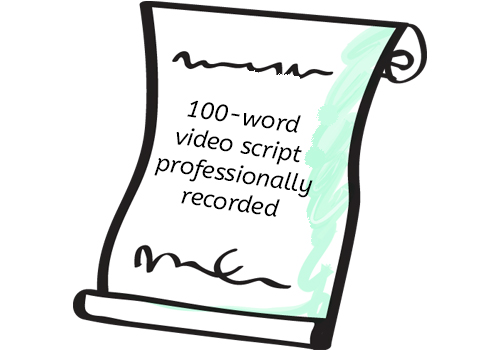 100-Word Video Script Professionally Recorded - Member