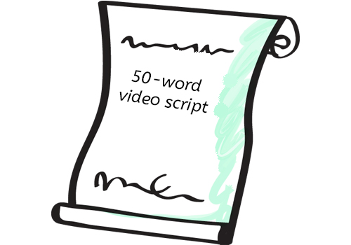 50 word video script - Member